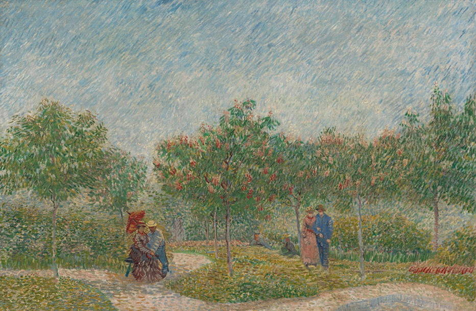 Garden with Courting Couples: Square Saint-Pierre, 1887 (Vin